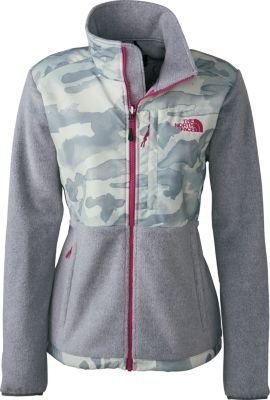 The North Face Women Denali Jacket, High Rise Grey Heather/Wind Chime Grey Camo, Small -
