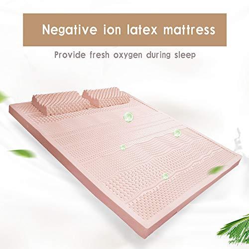 KKZZZ Matratze Pad Protector 100% Naturlatex Matratze Hypoallergen - Negative Ionen Reinigen Sie die Luft, um den Schlaf zu verbessern - Firm Queen Size,Twin(100x200cm) -