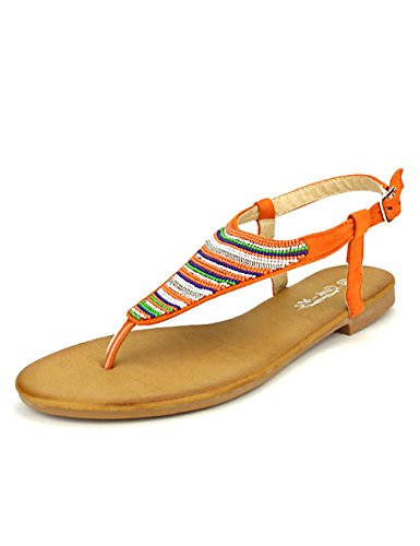 Cendriyon Tongs Orange CINKS Mee Chaussures Femme Orange