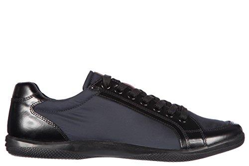 Prada scarpe sneakers uomo in nylon nuove spazzolato blu EU 42 4E2439 3OUU F0008
