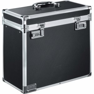 Leitz Lockable Personal Mobile Filing Case, 15 File Capacity, Colour: Black/Chrome