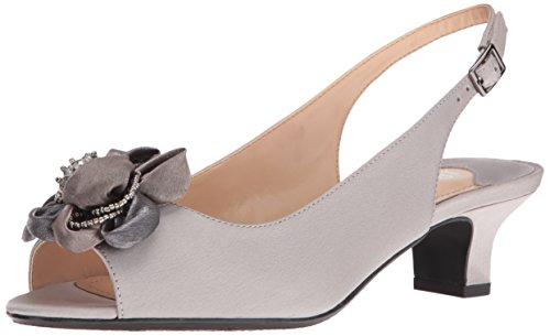 J. Renee Women's Leonelle Low Heel Open Toe Slingback J Renee Satin-heels