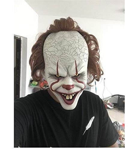 Stephen Kings Es Maske Pennywise Horror Clown Joker Maske Clown Maske Halloween Cosplay Kostüm Requisiten (Es Ist Der Clown Halloween Kostüm)