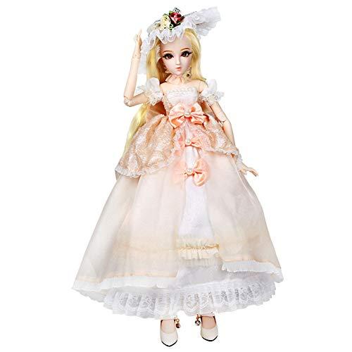 Puppe Anime Style Puppe Exquisite Puppe Geburtstagsgeschenk 45 cm Dress Up Hochzeitskleid Child Playmate Girl Toy Doll ()