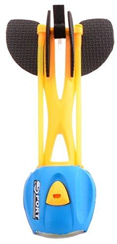 Ziehen und Wurfpfeil Pfeife gelb / blau 23 cm -
