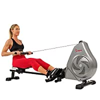 Sunny Health & Fitness Unisex Adult SF-RW5728 Air Magnetic Rowing Machine - Silver, One Size