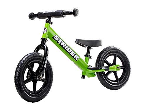 Strider - Bicicleta sin pedales Strider 12 Sport, para niños de 18 meses a 5 años, verde