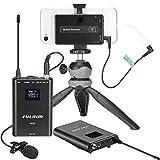 FULAIM MX20 4-Kanal UHF Doppelkanal Kabelloses Lavalier-Mikrofon System mit 2 Bodypack-Sendern für iPhone Android Handy DSLR-Kameras, Camcorder Mikrofon für Interview YouTube Vlogging Livestream