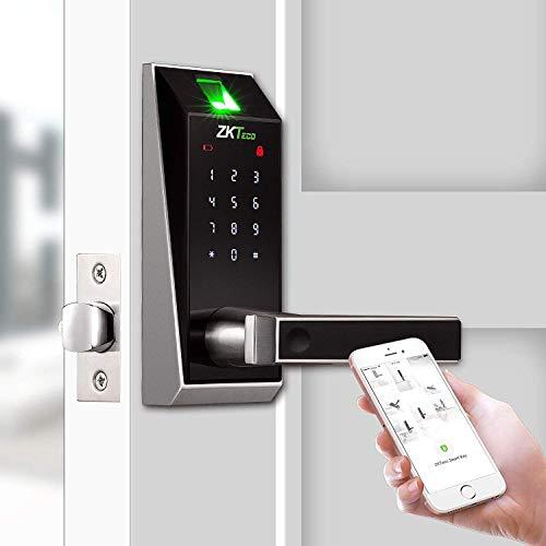 Electronic Locks Fingerprint Biometric Door Lock Keyless Bluetooth Door Locks Keypad Digital Smart Locks for Home/Hotel/Rome/Dormitory by ZKTeco