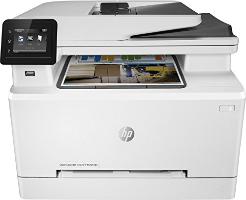 HP Color Laserjet Pro MFP M281fdn - Impresora láser multifunción (LAN, fax, copiar, escanear, Imprimir en Color, 21 ppm), Color Blanco