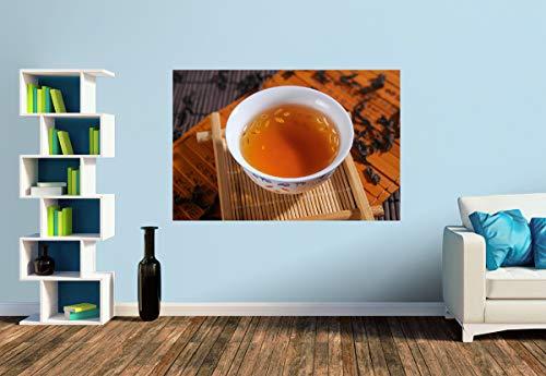 Premium Foto-Tapete Schale mit Schwarztee (verschiedene Größen) (Size S | 186 x 124 cm) Design-Tapete, Vlies-Tapete, Wand-Tapete, Wand-Dekoration, Photo-Tapete, Markenqualität von ERFURT