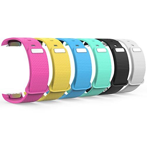 MoKo Armband für Samsung Gear Fit II / Fit2 Pro - 6x Silikon Sportarmband Sport Band Uhrenarmband Erstatzband mit Stiftschließe für Gear SM-R360 / SM-R365 Smartwatch, Bandlänge 126mm-213mm, Multicolor