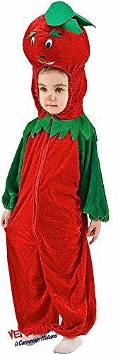 (Fancy Me Italienische Herstellung Kleinkinder Jungen Mädchen Tomate Ernte Fest Kostüm Kleid Outfit 12-36 Monate - grün/rot, 1 Year)