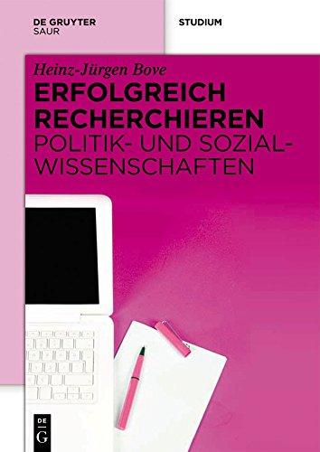 Erfolgreich recherchieren -  Politik- und Sozialwissenschaften (German Edition) por Heinz-Jürgen Bove