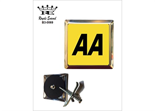 Royale Emaille Royale quadratisch Auto Grill Badge AA, der Automarke Association B3. 0069