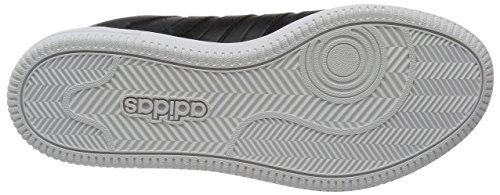 Adidas Team Court, Scarpe Low-Top Uomo, Nero, 37.5 EU Multicolore (Cblack/Cblack/Msilve)