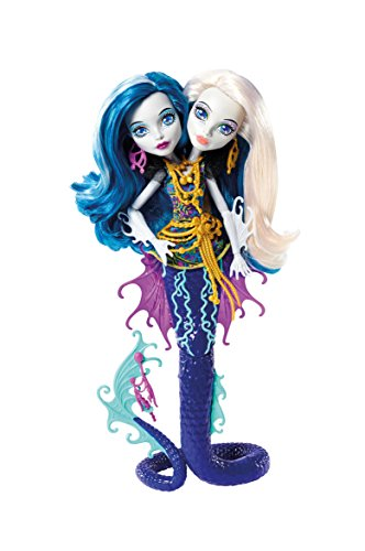 Monster High DHB47) Mattel - Muñeca, Monstruitas de profundidades, marinas inseparables