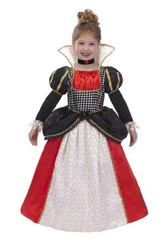 Herzen Für Der Kids Königin Kostüm - Nur Pretend Kinder Königin der Herzen Kostüm mit Reifen und Halsband, klein