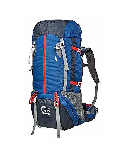 Bsa-rucksack (BSA Gear G60Rucksack Trekking 60L, blau/grau/rot)