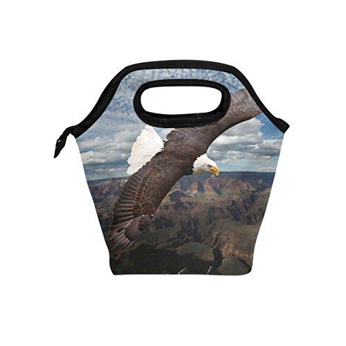 American Eagle Handtasche (jstel American Eagle Lunch Bag Handtasche Lunchbox Frischhaltedose Gourmet Bento Coole Tote Cooler Warm Tasche für Reisen Picknick Schule Büro)