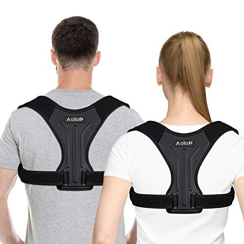 Correttore Postura per Uomo Donna, Postura Corretta Schiena Regolabile Supporto Traspirante Indietro a Fascia Postura Correzione Cintura Sostegno lombare e Sollievo dal Dolore di Collo e Torace