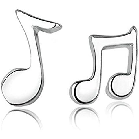 Chiave di violino e base Clef Orecchini Sterling Silver collana Nota 925 Musica
