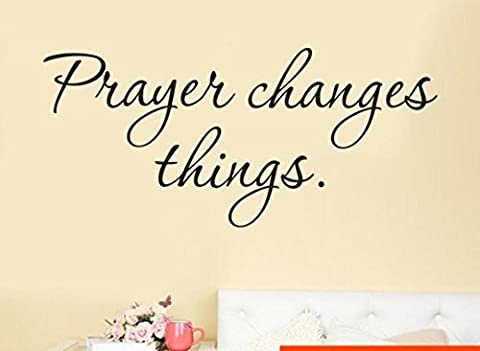 Prayer Changes Things Quote Bible Removable Art Vinyl Mural Home Room Decor Wall Stickers