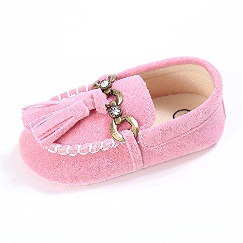 Rosa Mokassins Baby (ESTAMICO Baby Mädchen Quaste Mokassins Schuhe Jungen Sneakers Rosa 12-18 Monate)