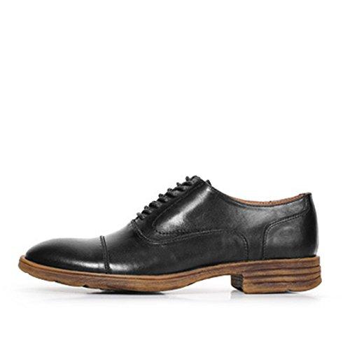 HENGJIA Herren Freizeitliche Arbeitsschuhe Klassischer Schnürhalbschuh Oxford-Schuh 166G1 Schwarz