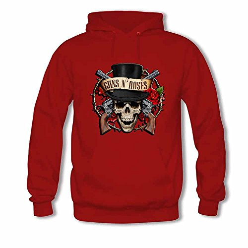 Mens Hooded Sweatshirt Guns N Roses Vector Logo Cotton Hoodie M