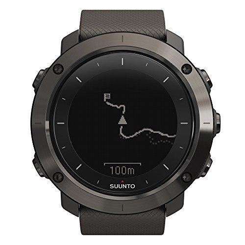 Suunto TRAVERSE - Reloj GPS de exterior para excursionismo y senderismo, hasta 100 horas de batería, sumergible, color gris