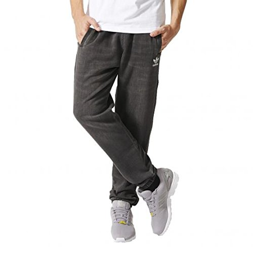 French-terry-hose (adidas French Terry Denim Slim Pant Medium Grey Denim S)