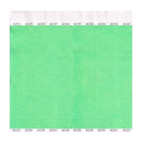 ClubKing Ltd Armbänder, aus Tyvek, Neongrün, 1000 Stück (Tyvek-armbänder 1000)