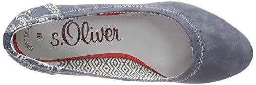 s.Oliver 22308, Chaussures à talons - Avant du pieds couvert femme Bleu (DENIM 802)