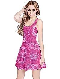 Cowcow para mujer Tie Dye impresión patrón Estilo sin mangas vestido skater, XS-5X L