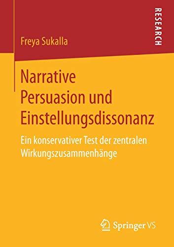 Narrative Persuasion und Einstellungsdissonanz: Ein konservativer Test der zentralen Wirkungszusammenhänge