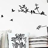 Baumast Vogel Wand Aufkleber Wohnzimmer Schlafzimmer Hintergrund Wand geschnitzter Wandaufkleber