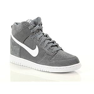 Nike, Uomo, Dunk Hi, Suede / Pelle, Sneakers Alte, Grigio, 45 EU