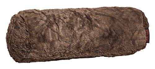 Fluffy Nackenrolle ca. 15x40 cm kuschelweicher Plüsch in Felloptik in bunter Farbauswahl 1 Stück (070 braun)