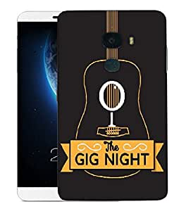 Snoogg The Gig Night Designer Protective Back Case Cover For LETV LE MAX