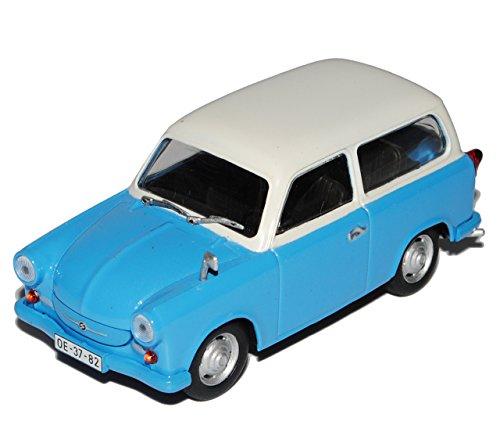 Unbekannt Trabant P50 500 Kombi Blau Beige 1/43 Modellcarsonline Modell Auto mit individiuellem Wunschkennzeichen