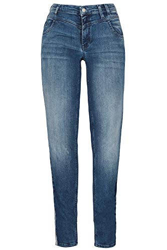 GINA LAURA Damen Jeans Julia, Galonstreifen, schmale 5-Pocket-Form Blue Denim 38 722586 92-38