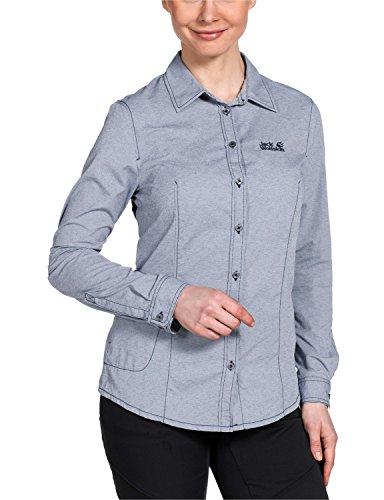 Jack Wolfskin Damen Bluse Rayleigh Stretch Vent Shirt W, Night Blue, M, 1401591-1010003