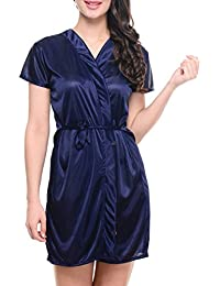 Klamotten Women Satin Short Robe
