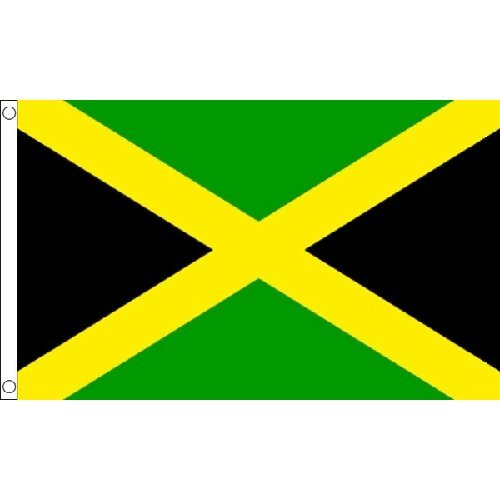 Jamaica Large Flag 8Ft X 5Ft Jamaican Rasta Country Banner With 2 Metal Eyelets by Jamaica -