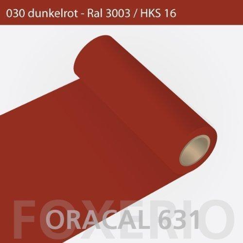 Orafol - Oracal 631 - 63cm Rolle - 5m (Laufmeter) - Dunkelrot / matt, A23oracal - 631 - 63cm - 06 - kl - Autofolie / Möbelfolie / Küchenfolie