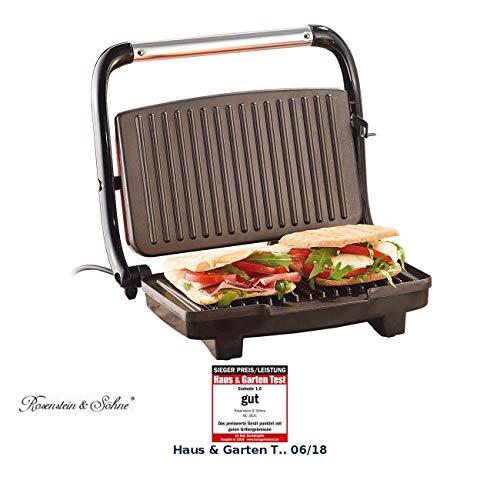 Rosenstein & Söhne Sandwichmaker: Panini-, Sandwich- & Kontaktgrill CG-2510, 1.000 W (Paninigrill)
