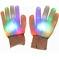 fgjhfghfjghj LED Glowing Gloves Christmas Halloween Bar Props Entertainment Carnival Gloves Finger Glow Light Up Gloves