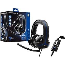 Thrustmaster Y-300P - Auriculares - Licencia Oficial PS4 - PS4 / PS3 - Almohadillas grandes y ultra suaves - Micrófono con supresión de ruido, desmontable y ajustable