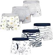 Yoofoss Calzoncillos Bóxer de algodón para Niños Paquete de 6 Pantalones Cortos Ropa Interior Bóxers Ropa Inte
